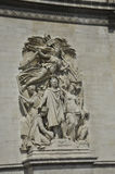 Sculpture from Arch of Triumph of Paris in France Royalty Free Stock Photo