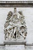 Sculpture on the Arch of Triumph, Paris - La Paix de 1815 Stock Images