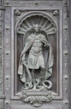 Sculpture of archangel Michael Royalty Free Stock Image