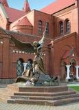 Sculpture of Archangel Michael, Minsk Royalty Free Stock Image