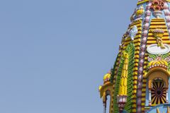 Sculpture, architecture and symbols of Indian Temple Royalty Free Stock Photography