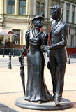 Sculpture aristocratic couple Royalty Free Stock Image