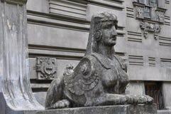 Sculpture Art Nouveau architecture style stock photography