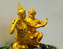 Sculpture Art in Thai temples Stock Photos