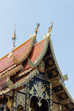 Sculpture art on thailand temple roof Royalty Free Stock Photos