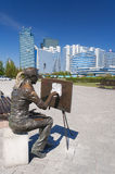 Sculpture The artist in Astana Royalty Free Stock Photography