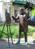 Sculpture artist Konstantin Makovsky with easel for painting wor Royalty Free Stock Images