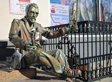 The sculpture of the artist Vincent van Gogh. Editorial.Omsk, Russia September 06, 2012 The sculpture of the artist Vincent van Gogh on Lenin street stock photo
