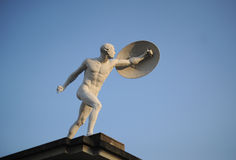 Sculpture of the athlete. Sculpture of the Aryan athlete in Berlin Royalty Free Stock Photography