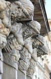 Sculpture atlanta. sculpture Atlanteans hold the house. Sculpture Atlanteans hold the house. Five large sculptures of Atlanteans royalty free stock photo