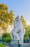 Sculpture au centre de la ville La station de vacances de Faliraki rhodes Photographie stock libre de droits