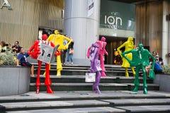 Sculpture au mail ION Orchard, Singapour Images stock
