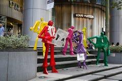 Sculpture au mail ION Orchard, Singapour Photo libre de droits