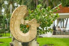Sculpture au parc Gorkogo à la station de vacances de Nha Trang, septembre 2016, le Vietnam Images stock
