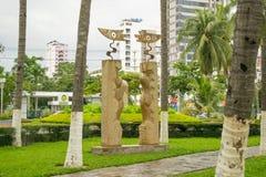 Sculpture au parc Gorkogo à la station de vacances de Nha Trang, septembre 2016, le Vietnam Photos stock