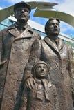 """""""Sculpture av den grekiska Immigrant†en Royaltyfri Bild"""