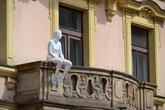 Sculpture on the balcony Stock Images