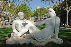 Sculpture in Barcelona, Spain Royalty Free Stock Photo