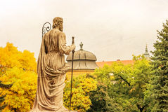 Sculpture at Basilica of Eger, Hungary Royalty Free Stock Photo
