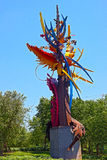 Sculpture The Beckoning by Albert Paley at National Harbor Stock Photos