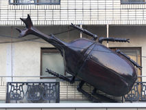 Sculpture of the beetle on the street in Tokyo, Japan Stock Images