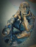 Sculpture of a beggar Royalty Free Stock Image