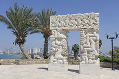 Sculpture A belief gate in Abrasha park, Old Yaffo, Israel Stock Photography