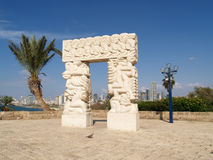 Sculpture A belief gate in Yaffo, Israel Royalty Free Stock Photography