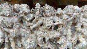 Sculpture in Belur. Ancient Sculpture and statues in Belur and Halebidu Stock Photography