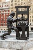 Sculpture of Benjamin Franklin Royalty Free Stock Images