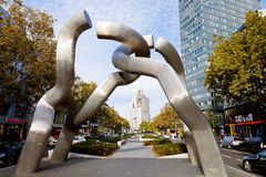 Sculpture Berlin on Tauentzienstrasse in morning Royalty Free Stock Photo