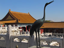 Sculpture of bird in the Forbidden City. Sculpture of a bird in the Forbidden City, China Royalty Free Stock Photography