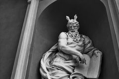 Sculpture in black and white royalty free stock photo