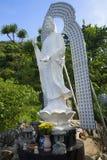 The sculpture of the Bodhisattva Avalokitesvara in the pagoda in the Marble mountains. Vietnam Royalty Free Stock Photos