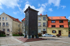 Sculpture Bokshtas (Tower) in the Old Town of Klaipeda Stock Images