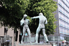 Sculpture of Boxers in Helsinki Royalty Free Stock Images
