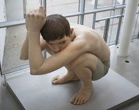 The sculpture Boy Royalty Free Stock Image