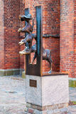 Sculpture of Bremen Town Musicians in Riga, Latvia Royalty Free Stock Images