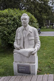 Sculpture Brezhnev's Portrait in the park Muzeon,marble. Sculptor A. Bichukov Royalty Free Stock Images