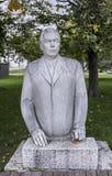 Sculpture Brezhnev's Portrait in the park Muzeon,marble. Sculptor V.Dumanyan Royalty Free Stock Photo
