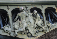 The sculpture in a bridge,paris,france Stock Photography