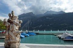 Sculpture in Brienz, Lake Brienz, Switzerland Royalty Free Stock Image