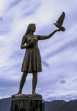 Sculpture. Bronze peace scuplture in Marmaris, Mugla, Turkey Royalty Free Stock Images