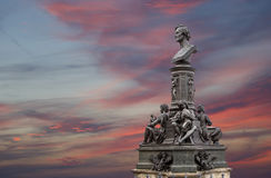 Sculpture on the Bruhl Terrace, a historic architectural ensemble in Dresden,  Germany Stock Photo