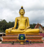 Sculpture Buddha,Buddha statue. Large Sculpture Buddha images in the temples of Thailand. Open View And public shooting Royalty Free Stock Photo