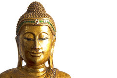 Sculpture of Buddha head Stock Images