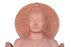 The sculpture of Buddha made from stone Stock Photos