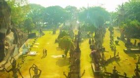 Sculpture Buddha Park (Xieng Khuan) stock video footage