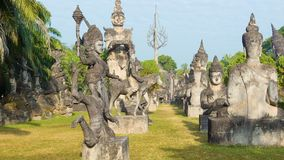 Sculpture Buddha Park (Xieng Khuan). Vientiane, Laos Royalty Free Stock Photo