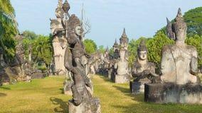 Sculpture Buddha Park (Xieng Khuan). Vientiane, Laos stock video